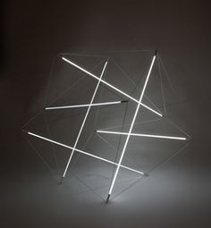 Designer Michal Maciej Bartosik has created two light sculptures based on two of Kenneth Snelson's sculptures: 'Needle Tower' and 'City Boots'.