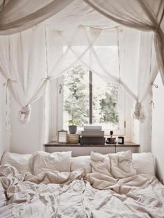 This is beautiful! Gorgeous bedroom decorating ideas for when you want a cozy space to read.