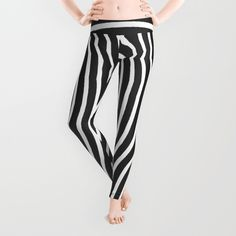 'Bent Out Of Shape' leggings by LLL Creations. This design is available in many different products.    #society6 #society6_products  #LLLCreations #leggings #blackandwhite
