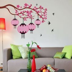 Decal Dzine Chinese Lamps With Branch