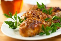 Marinated Chicken with Honey Mustard Sauce
