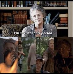"""Carol totally played them! I love it when she talked about """"missing Ed"""" and how she's the """"den-mother"""" #TWD"""