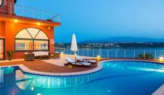Stylish and sea views villa Efzin is the ultimate destination for your summer holidays in Crete. Tersanas near Chania offers magical beaches ideal for those who love sea relaxation. Crete Holiday, Luxury Villa, Villas, Relax, Beach, Outdoor Decor, Summer, Home Decor, Luxury Condo