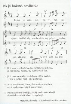 notový zápis vánoční koledy - Hledat Googlem Kids Songs, Christmas Music, Sheet Music, Education, Taking Notes, Songs For Children, Children Songs, Music Score, Jul