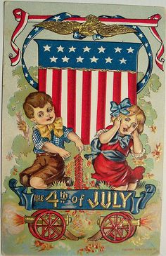 Vintage Fourth of July Postcard by riptheskull, via Flickr