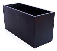 Planter fiberglass 100x40x50cm elegant black-matt   eBay  €129.90
