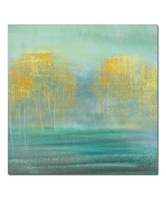 Look what I found on #zulily! Golden Trees Wrapped Canvas #zulilyfinds