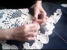 Video to show how to crochet the mesh while making Irish crochet -  Meu blog:  http://ivelisefeitoamao.blogspot.com.br/