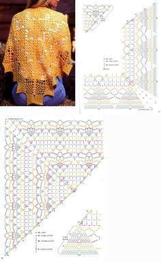 - Her Crochet Crochet Shawl Free, Crochet Wrap Pattern, Gilet Crochet, Crochet Diy, Crochet Shawls And Wraps, Crochet Blouse, Crochet Chart, Crochet Scarves, Crochet Clothes