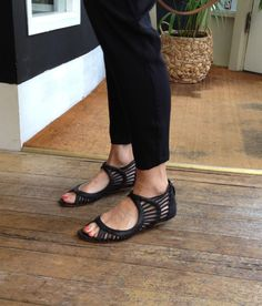 New on the Blog....lase cut sandals