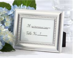 Beautifully Beaded Place Card Holder/Frame