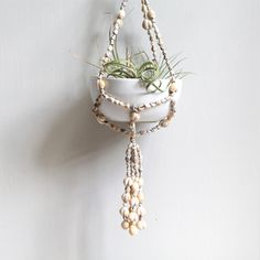 Vintage Shell Hanging Planter