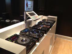 Custom DJ booth.