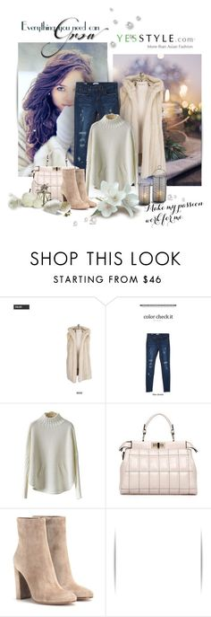 """""""YesStyle"""" by zeljanadusanic ❤ liked on Polyvore featuring Eranzi, Cherryville, PEPER, LineShow, Gianvito Rossi, women's clothing, women, female, woman and misses"""