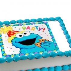 Cookie Monster Edible Image Cake Decoration