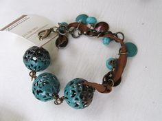 Wedgewood and Brown Bracelet love the colors