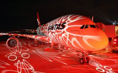 The Airbus Light Show Wallpaper