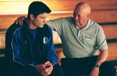 """One Tree Hill - Season 1 - """"The Living Years"""" - James Lafferty and Barry Corbin (Nathan & Coach Whitey)"""