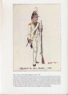 Royal Army: Plate 5: King's (du Roi) Infantry Regiment, Fusilier, 1790.