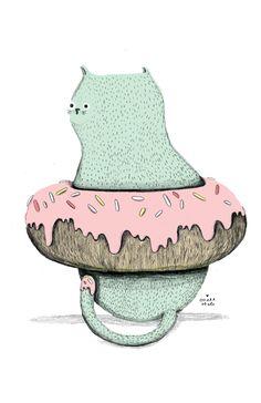 Cat donut