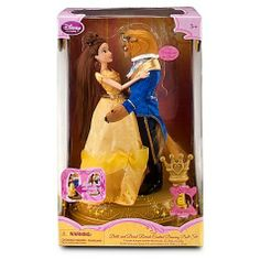 Disney Princess Exclusive Beauty and the Beast Remote Control R/C Dancing Doll Set by Disney. $29.95. Imagine the tale as old as time, song as old as rhyme with our enchanting musical Belle and Beast doll set. Dreams come true when the romantic pair really dance to the classic tune with just a touch of a magic wand remote controller.Product Details    Set includes Belle and Beast dolls    Comes with Beast mask for transformation from Beast to Prince    Ballroom base with d...