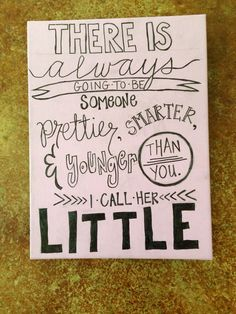 Big And Little Quotes | Ombre And Sparkly Big Little Quote Canvas I Made For My Little