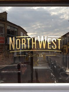 North West Barber Co. - Gold Window Graphic