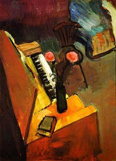 Interior wirh  Harmonium   -   Henri Matisse   1900  French  1869-1954