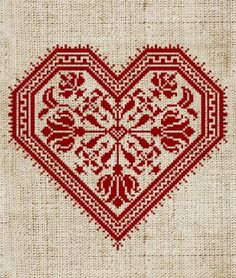 The Flowering Heart  Valentine CrossStitch Pattern 4 by modernfolk, $5.50