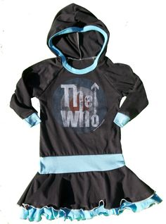 $49.00 The Who long sleeved dress by Rowdy Sprout Made in California