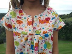 MADE TO ORDER  Girl's Swing Top  size 2 3 4 5 6 7 by LahDiDoo