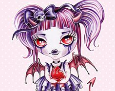 """♥ Cheshire Kitty ♥  © Sandra Vargas    """"We are all mad here!  From my Alice in Wonderland series.  Cheshire Kitty is eerie, glamorous and wears a cute tutu in purples and pinks!  This print is a reproduction of my original illustration, full of rich textures and details. Each print is signed and dated on back.    Print size: 8.5 x 11 inches  Matte finish ~ White Border (0.25 each side)  *Frame is not included    It is printed on professional Kodak Endura photo paper that will last forever…"""