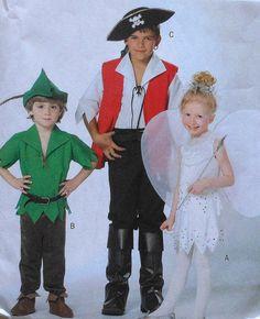 Peter Pan Tinkerbell Captain Hook Costume Sewing Pattern