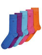 Burton Menswear London 5 Pack Bright Socks