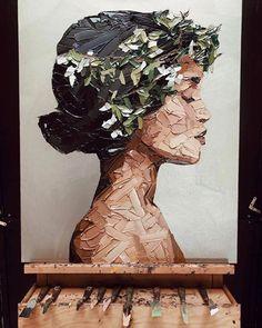 Güzel yağlı boya, Elena Gual ' in paleti bıçağı.