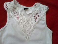 damas em croche pra aplicaçao | Crochê das Irmãs: Camisa regata com aplicação croche
