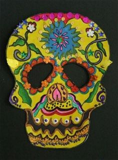 Day of the Dead Calavera Skull Masks: Multicultural Art and Craft Lessons for Kids: KinderArt ®