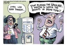 Cartoon about the Olympic TV coverage in the US