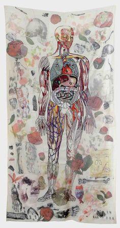 Anna Torma | Vanitas 2 | fabric, embroidery