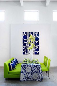 chartreuse used in decor