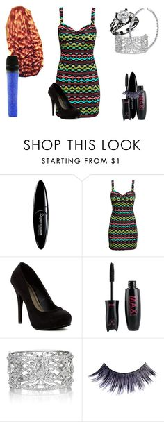 """""""Lillian Lockstar In """"I Will Show You"""""""" by shestheman01 on Polyvore featuring Maybelline, H&M, Michael Antonio, Penny Preville, Manic Panic NYC, BERRICLE and Swarovski"""