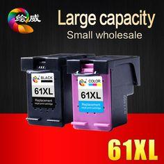 2 pack ink cartridge kompatibel untuk hp 61 xl untuk hp Deskjet 1000 1050 1055 2000 2050 2512 3000 J110a J210a J310a Printer