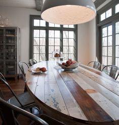 Una Mesa Rústica y Reciclada en el Comedor, mi reto para cuando haga mi cambio de domicilio, tengo que hacerla!