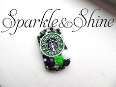 """Let everyone know you're a Starbucks loving coffee addict with this insanely cute keychain!  Dog tags are available on a 30"""" ball chain necklace, or on a keychain.   Unless otherwise pictured all dog tags have a fully blinged back.  (Any overcharges for shipping will be refunded once your o..."""