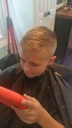 Little boy comb over haircut