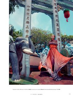Wearing The World: Rebecca Brown By Caleb & Gladys For Elle India June 2014