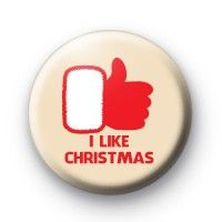 I Like Christmas Badges christmas button badges