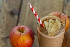 Apple Cinnamon Smoothie blend: 1 apple, cored and roughly chopped 1/4 tsp nutmeg 1 1/2 tsp cinnamon 1 cup ice 1 cup non-dairy milk such as coconut, almond or rice 1/2 to 1 serving of powdered plant-based protein, vanilla or natural flavor