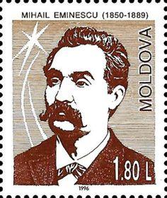 Mihai Eminescu. Poet (1850-1889) Poet, Postage Stamps, Romania, Fictional Characters, Seals, Door Bells, Moldova, Stamps, Fantasy Characters