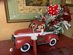 Excited to share this item from my #etsy shop: Red Truck Centerpiece, Christmas Arrangement, Elf Red Truck, Buffalo Check Red Truck, Red Truck, Christmas Truck Centerpiece,Farmhouse Decor #christmasredtruck #redtruck #buffalocheck #buffaloplaid #farmhousedecor #buffalocheckchristmas #centerpiece #rusticfarmhousedecor #buffalocheckdecor #christmaselfcenterpiece #elf #dog #puppy #christmaslights #lightedchristmascenterpiece #holidaze #etsy #etsyfinds #etsyshop #etsyseller #wreathshop #wrrathdesig